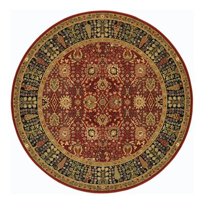 Edwards Red Area Rug Rug Size: Round 46