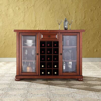 Pottstown Bar Cabinet with Wine Storage Color: Classic Cherry