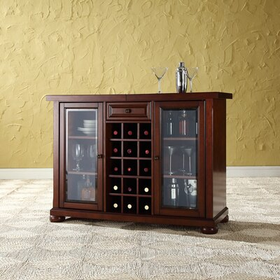 Pottstown Bar Cabinet with Wine Storage Color: Vintage Mahogany