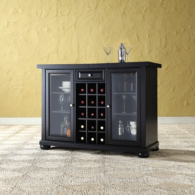 Pottstown Bar Cabinet with Wine Storage Finish: Black
