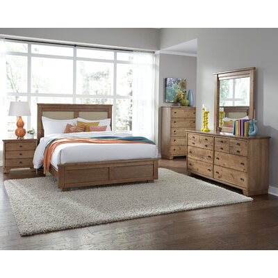 Loughran Upholstered Panel Headboard Size: King, Color: Dune