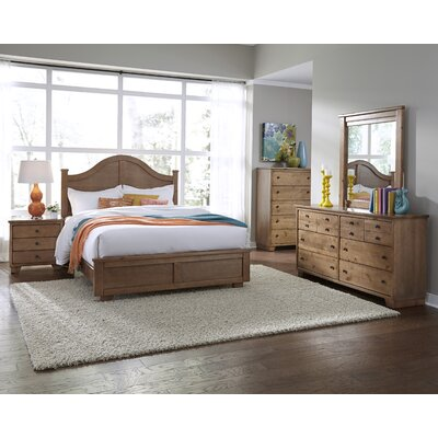 Loughran Arched Panel Headboard Size: King, Color: Dune