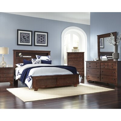 Diego Bookcase Headboard Size: King
