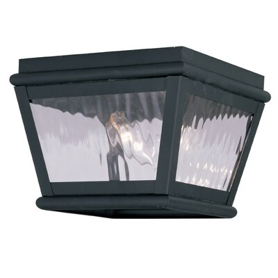 Southport 2-Light Flush Mount Finish: Black