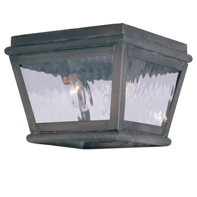 Southport 2-Light Flush Mount Finish: Charcoal