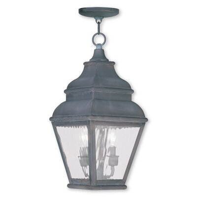 Southport 2-Light Foyer Pendant Finish: Charcoal