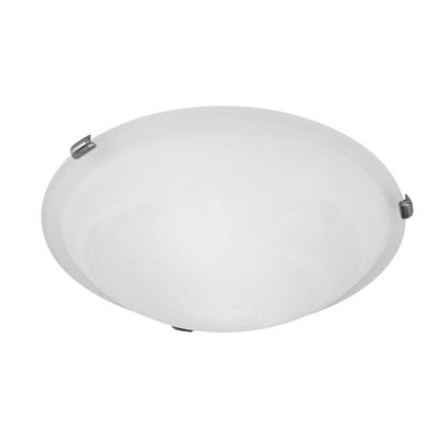 Lewisboro 3-Light Flush Mount Finish: Brushed Nickel