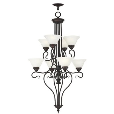 Lewisboro 8-Light Shaded Chandelier Finish: Bronze