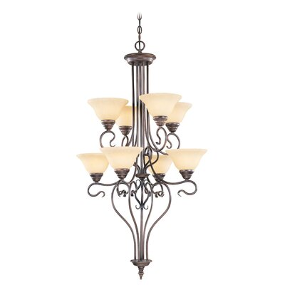 Lewisboro 8-Light Shaded Chandelier Finish: Imperial Bronze