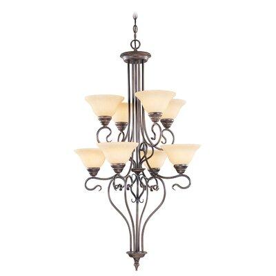 Lewisboro 8-Light Shaded Chandelier Finish: Imperial Bronze