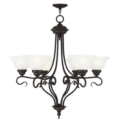 Lewisboro 6-Light Shaded Chandelier Finish: Bronze