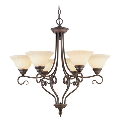 Lewisboro 6-Light Shaded Chandelier Finish: Imperial Bronze