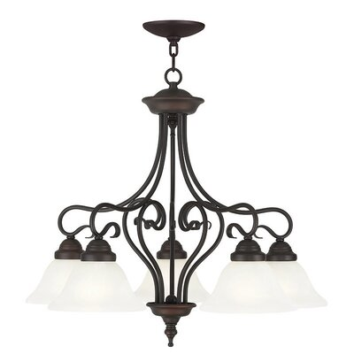 Lewisboro 5-Light Shaded Chandelier Finish: Bronze