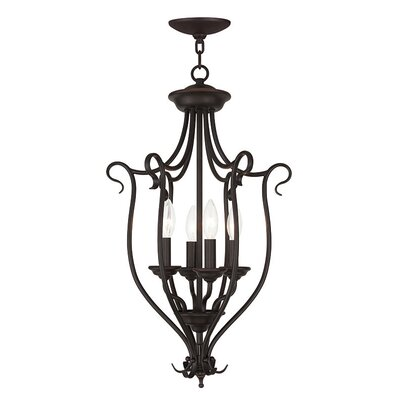 Lewisboro 4-Light Foyer Pendant Finish: Bronze