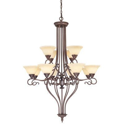 Lewisboro 12-Light Shaded Chandelier