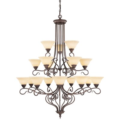 Lewisboro 18-Light Shaded Chandelier