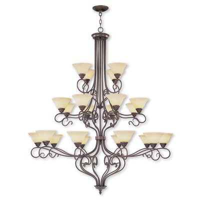 Lewisboro 22-Light Shaded Chandelier Finish: Imperial Bronze