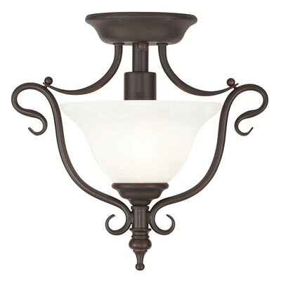 Lewisboro 1-Light Semi Flush Mount Finish: Bronze