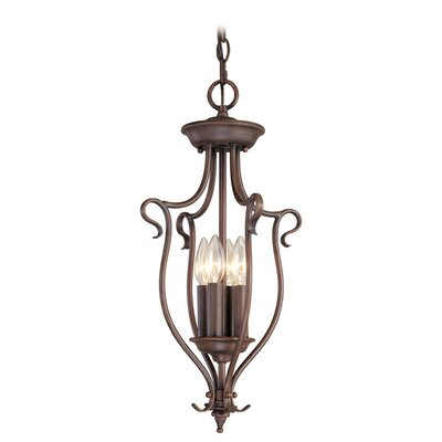 Lewisboro 4-Light Foyer Pendant Finish: Imperial Bronze