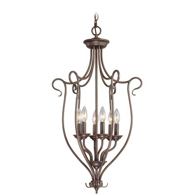 Lewisboro 6-Light Foyer Pendant Finish: Imperial Bronze