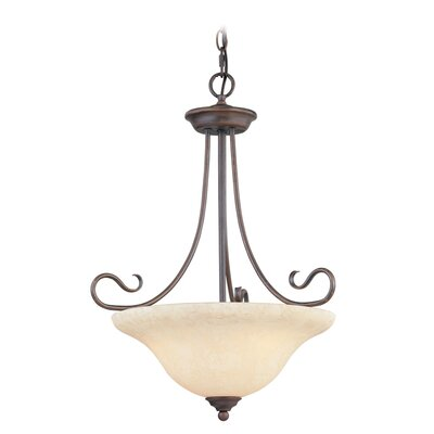 Lewisboro 3-Light Inverted Pendant Finish: Imperial Bronze