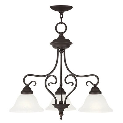 Lewisboro 3-Light Shaded Chandelier Finish: Bronze