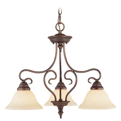 Lewisboro 3-Light Shaded Chandelier Finish: Imperial Bronze