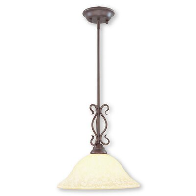 Lewisboro 1-Light Pendant Size: 52 H x 13 W x 13 D, Finish: Imperial Bronze