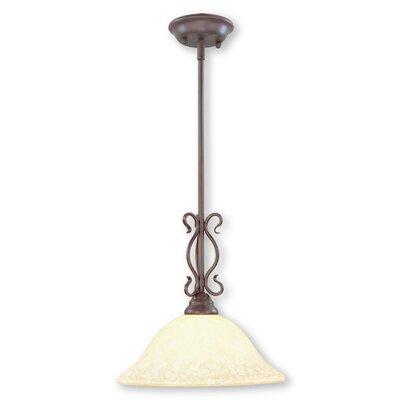 Lewisboro 1-Light Mini Pendant Size: 52 H x 13 W x 13 D, Finish: Imperial Bronze