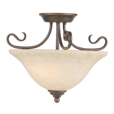 Lewisboro Semi Flush Mount Finish: Imperial Bronze