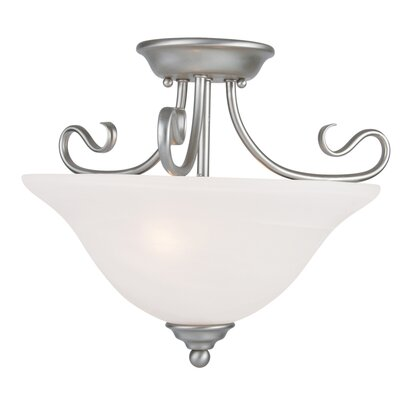 Lewisboro Semi Flush Mount Finish: Brushed Nickel