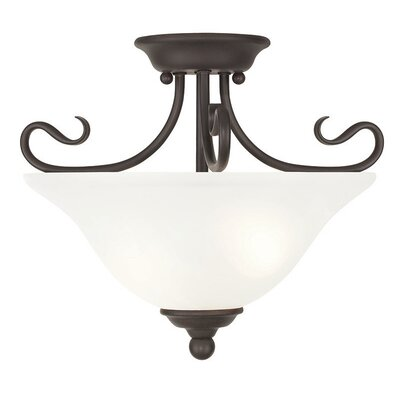 Lewisboro Semi Flush Mount Finish: Bronze
