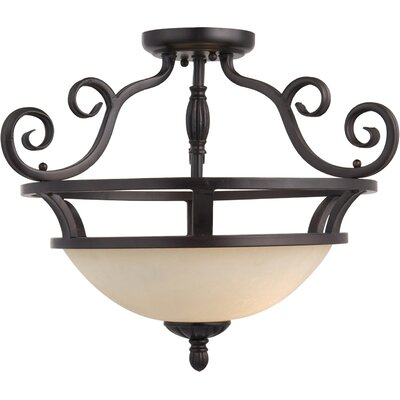 Amelia 2-Light Semi-Flush Mount Finish: Oil Rubbed Bronze