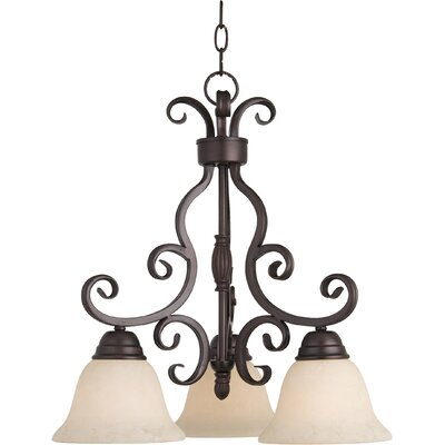 Amelia 3-Light Shaded Chandelier Finish: Oil Rubbed Bronze