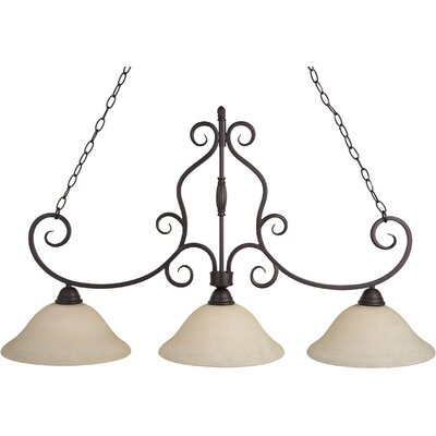 Amelia 3-Light Pendant Finish: Oil Rubbed Bronze