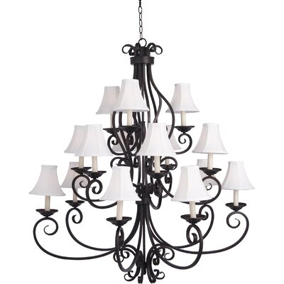 Amelia 15-Light Shaded Chandelier