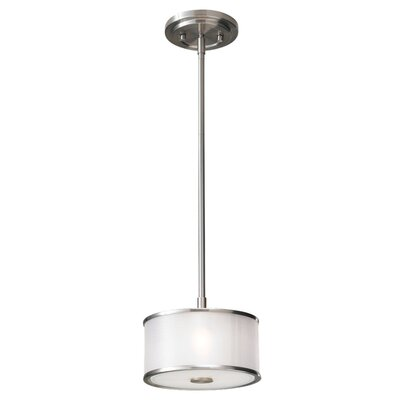 Millerton 1-Light Mini Drum Pendant Finish: Brushed Steel