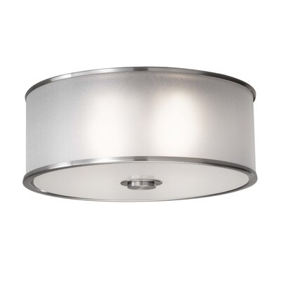 Millerton 2-Light Flush Mount Finish: Brushed Steel