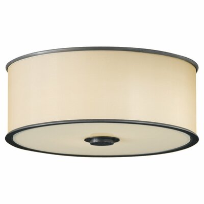 Millerton 2-Light Flush Mount Finish: Dark Bronze