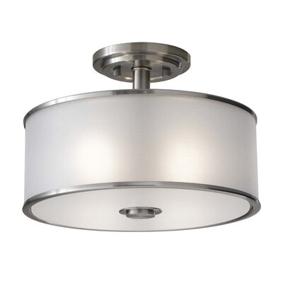 Millerton 2-Light Semi Flush Mount Finish: Brushed Steel