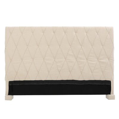 Greenlawn King Upholstered Panel Headboard Upholstery: Beige
