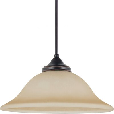 Sparland 1-Light Down Light Pendant Finish: Burnt Sienna with Amber Scavo Glass, Bulb Type: 100W Line Medium