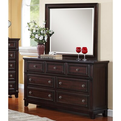 Girardville 7 Drawer Dresser with Mirror