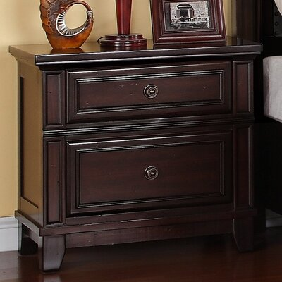 Wegman 2 Drawer Nightstand