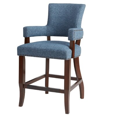 Gilberton Bar Stool Upholstery: Blue
