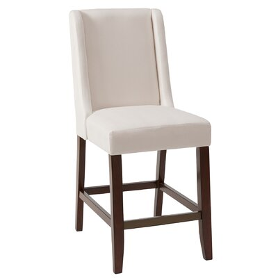 Pierre Bar Stool Upholstery: Cream