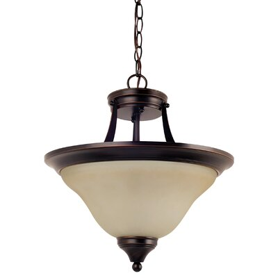 Sparland 2-Light Bowl Pendant Finish: Burnt Sienna