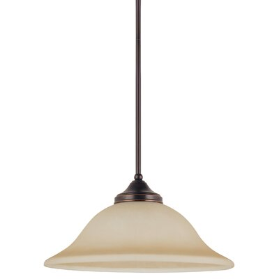 Sparland 1-Light LED Inverted Pendant Finish: Burnt Sienna