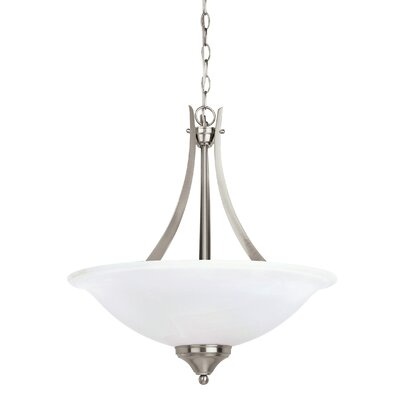 Sparland 3-Light Bowl Pendant Finish: Brushed Nickel