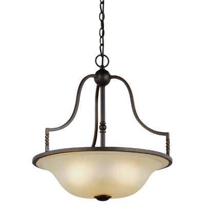 Bungalow 3-Light Bowl Pendant